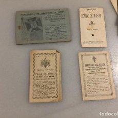 Documentos antiguos: ANTIGUOS 4 DOCUMENTOS RELIGIOSOS, PEREGRINACIÓN A ROMA, BREVES CONSEJOS HIJAS DE MARIA ETC AÑOS 30. Lote 124815515