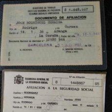 Documentos antiguos: DOCUMENTO AFILIACIÓN A LA SEGURIDAD SOCIAL 1961. Lote 125220419