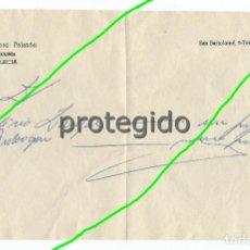 Documentos antiguos: RECETA. DR. ALFONSO PALAZÓN. OCULISTA. MURCIA.. Lote 125279711
