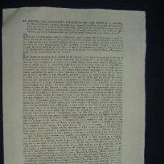 Documentos antiguos: JEREZ DE LA FRONTERA. TRIENIO LIBERAL. . CONSTITUCIÓN O MUERTE. 1822. CUARTEL DE TRINIDAD.. Lote 125319195