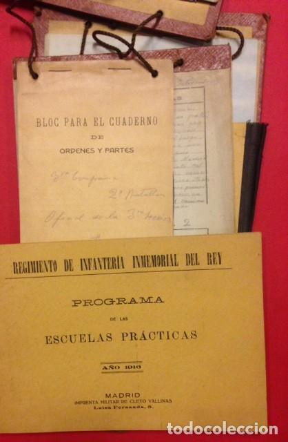Documentos antiguos: REGIMIENTO DE INFANTERIA INMEMORIAL DEL REY Nº 1 ESCUELAS PRACTICAS 1916 - Foto 5 - 125417479