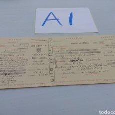 Documentos antiguos: ANTIGUO GIRO POSTAL 1950 SIN SELLO COMPLETO. Lote 125820700