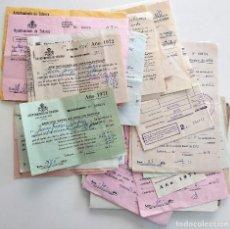 Documentos antiguos: LOTE DE 50 DOCUMENTOS DE TOBARRA (ALBACETE) DE 1926 HASTA 1974 - MUY VARIADO (VER FOTOGRAFÍAS). Lote 126040979