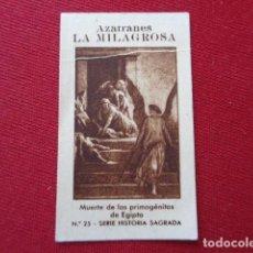 Documentos antiguos: NOVELDA. ALICANTE. AZAFRANES LA MILAGROSA. HISTORIA SAGRADA. Nº 25. MUERTE DE LOS PRIMOGÉNITOS. Lote 126072699