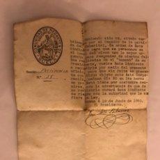 Documentos antiguos: SUECA (VALENCIA) DOCUMENTO COMUNIDAD DE REGANTES. PARTIDA DEL TANARITAL (A.1940). Lote 126216435