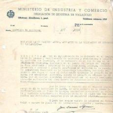 Documentos antiguos: CARTA COMERCIAL. MINISTERIO DE INDUSTRIA Y COMERCIO. 1949.. Lote 126341355