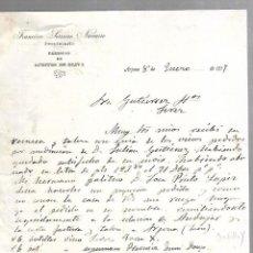 Documentos antiguos: CARTA COMERCIAL. FRANCISCO SERRANO NAVARRO. FABRICAS DE ACEITE DE OLIVA. ARJONA. 1917. Lote 126417399