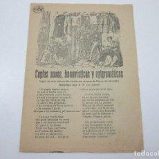 Documentos antiguos: COPLAS NOVAS, HUMORÍSTICAS Y EPIGRAMÁTICAS SEGUIT DE ENDEVINALLAS - SIGLO XIX . Lote 126565855
