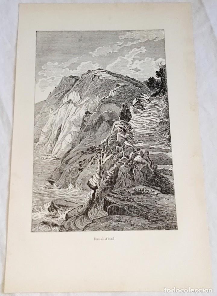 GRABADO DE 1918 - RAS-EL-ABIAD - EXTRAÍDO DE LIBRO - 23,5X14,5CM (Coleccionismo - Documentos - Otros documentos)