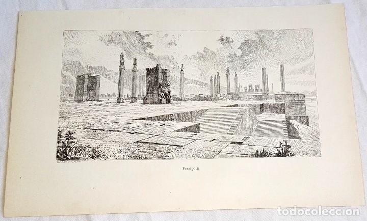 GRABADO DE 1918 - PERSÉPOLIS - EXTRAÍDO DE LIBRO - 23,5X14,5CM (Coleccionismo - Documentos - Otros documentos)