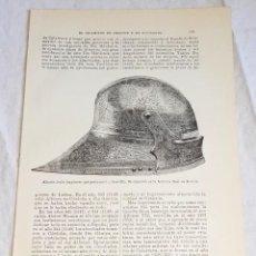 Documentos antiguos: GRABADO DE 1918 - ALMETE ÁRABE - EXTRAÍDO DE LIBRO - 23,5X14,5CM. Lote 126589871