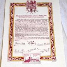 Documentos antiguos: REPRO DE 1944 - ACTA DE COLOCACIÓN Y BENDICIÓN DE LA PRIMERA PIEDRA DEL MONUMENTO A FRAY ANTONIO. Lote 126593143