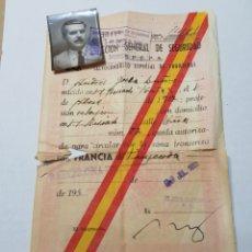 Documentos antiguos: SALVOCONDUCTO ESPAÑA-FRANCIA AÑO1952 ORIGINAL. Lote 126598112