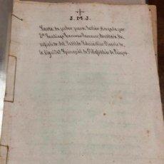 Documentos antiguos: DOCUMENTO CARTA CAMBIO DE PODERES SIGLO XIX. Lote 127128983