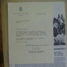 Documentos antiguos: CARTA COMUNION TRADICIONALISTA CARLISTA A ESCRITOR Y ARTICULO SOBRE ARMAS GUERRA CARLISTA, 1988. Lote 127546923