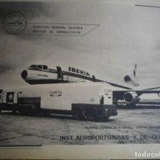 Documentos antiguos: CAMPSA PLANOS DE INST. AEROPORTUARIAS Y OLEODUCTOS DE ESPAÑA 1977 74 PAGINAS PLANOS . Lote 127827779