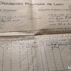 Documentos antiguos: DIPUTACION DE LEON NEGOCIADO DE RENTAS Y ARBITRIO SOBRE LA RIQUEZA PROVINCIAL GRAPADOS. Lote 128112687