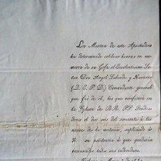 Documentos antiguos: CUBA.HABANA.CADIZ.MARINA.INVITACION HONRAS FUNEBRES D.ANGEL LABORDE Y NAVARRO. 1834. Lote 128173339