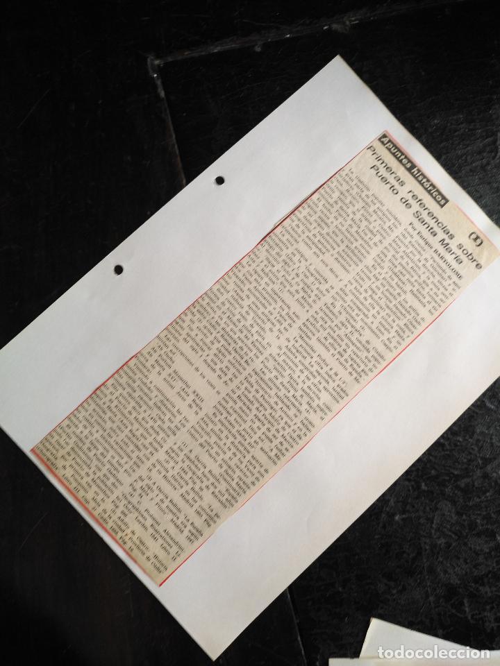 Documentos antiguos: COLECCION DOCUMENTACION PROVINCIA DE CADIZ POR PUEBLOS - EL PUERTO DE SANTA MARIA , CASTILLO .... - Foto 11 - 128335523