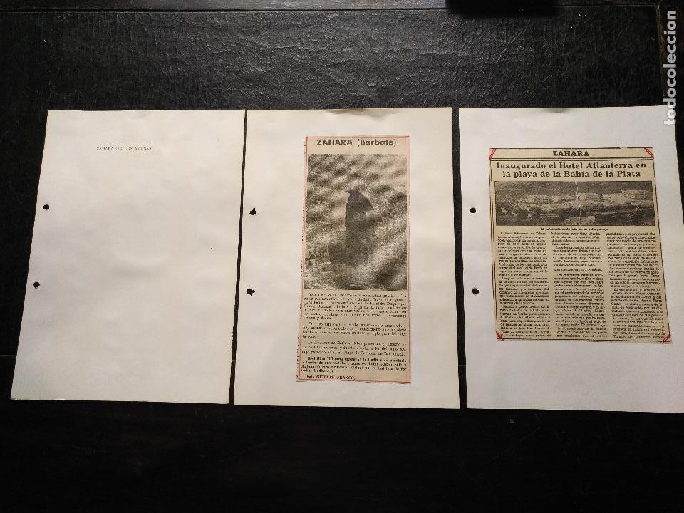 COLECCION DOCUMENTACION PROVINCIA DE CADIZ POR PUEBLOS - ZAHARA DE LOS ATUNES ( BARBATE) (Coleccionismo - Documentos - Otros documentos)