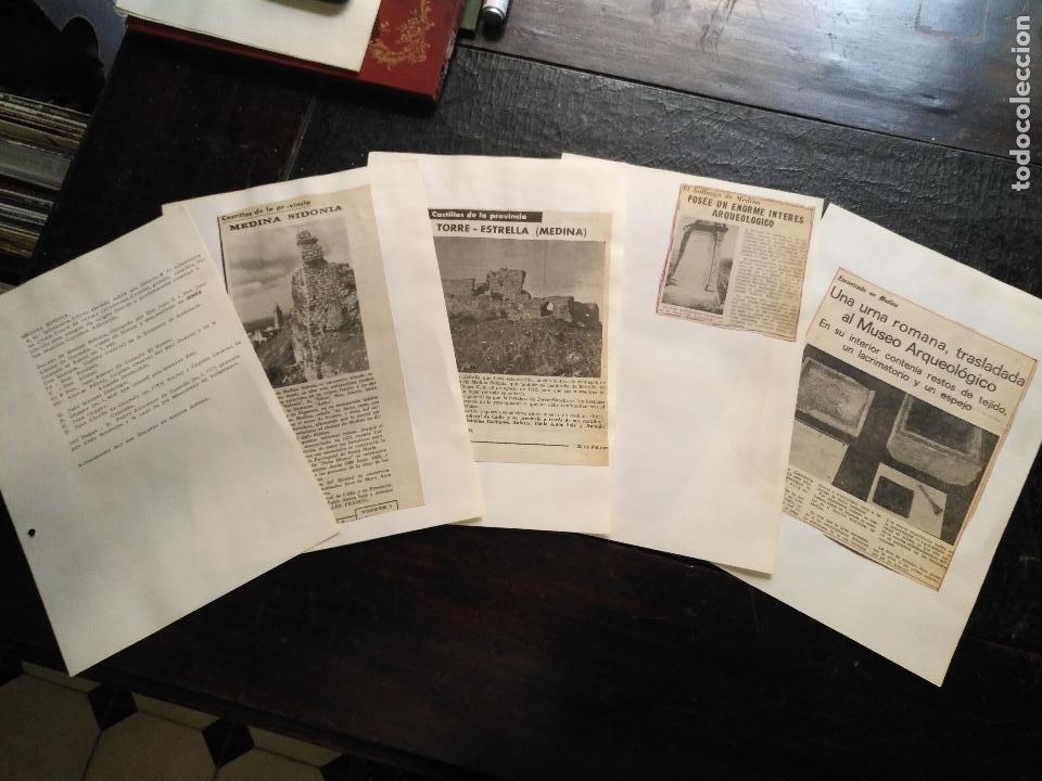 COLECCION DOCUMENTACION PROVINCIA DE CADIZ POR PUEBLOS - MEDINA SIDONIA (Coleccionismo - Documentos - Otros documentos)