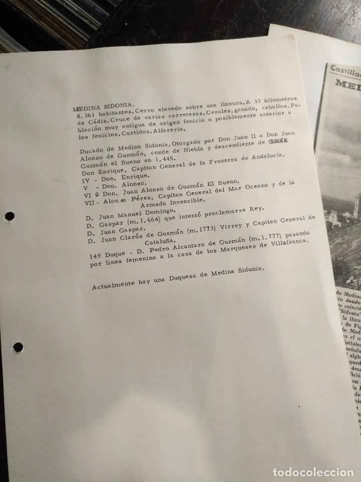 Documentos antiguos: COLECCION DOCUMENTACION PROVINCIA DE CADIZ POR PUEBLOS - medina sidonia - Foto 2 - 128363851