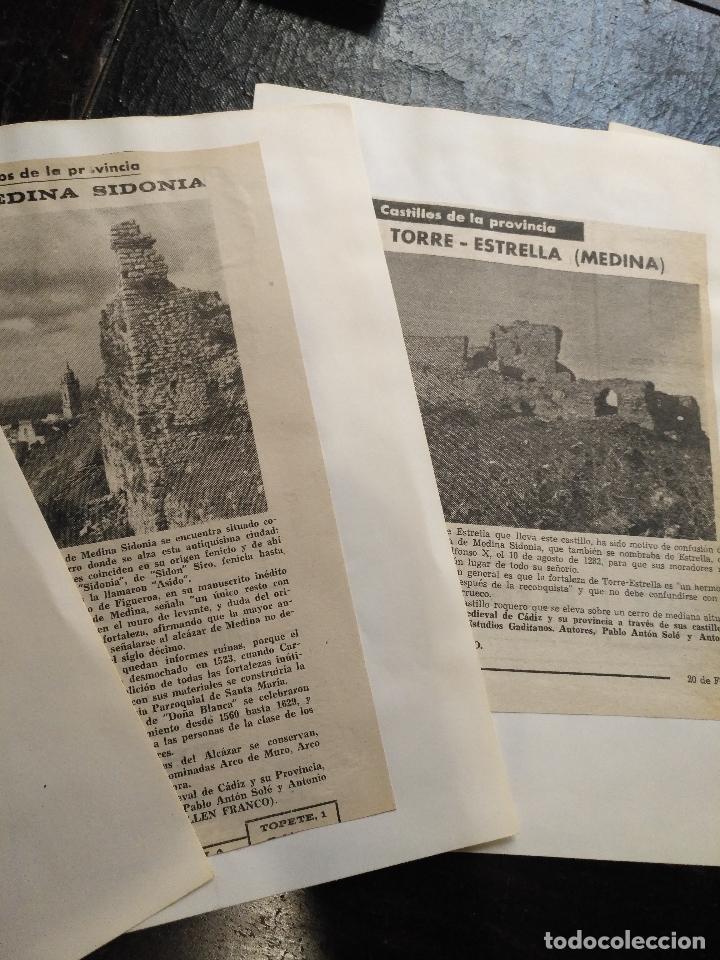 Documentos antiguos: COLECCION DOCUMENTACION PROVINCIA DE CADIZ POR PUEBLOS - medina sidonia - Foto 3 - 128363851