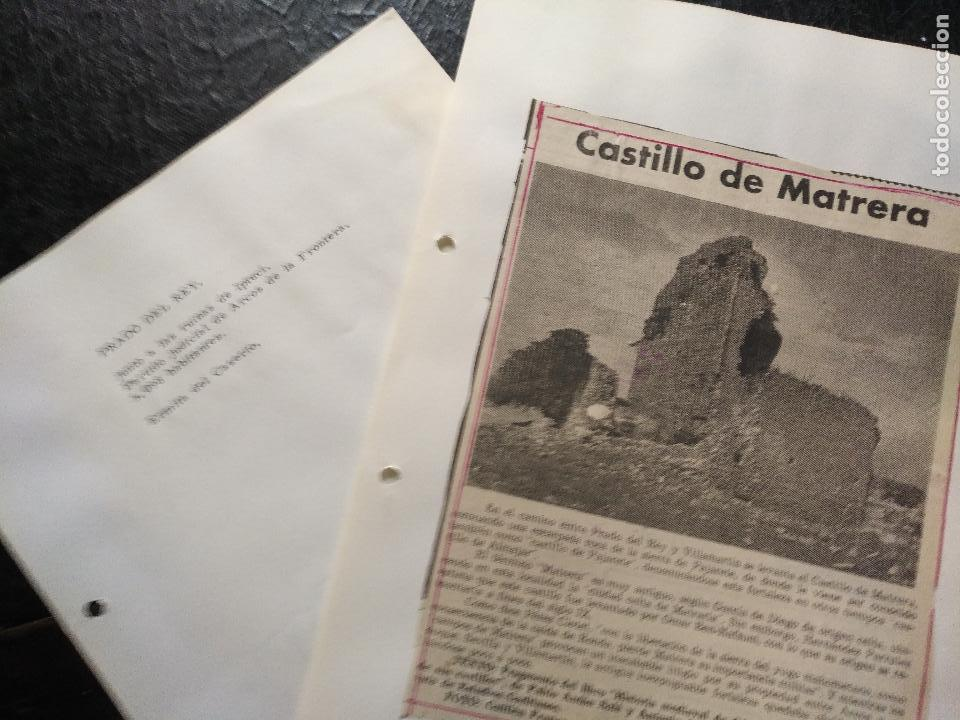 Documentos antiguos: COLECCION DOCUMENTACION PROVINCIA DE CADIZ POR PUEBLOS - prado del rey castillo - Foto 2 - 128368523
