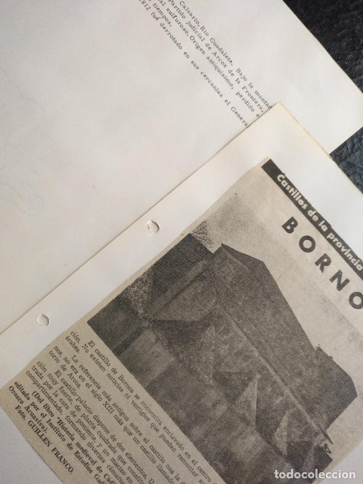 Documentos antiguos: COLECCION DOCUMENTACION PROVINCIA DE CADIZ POR PUEBLOS - bornos - castillo - Foto 2 - 128369123