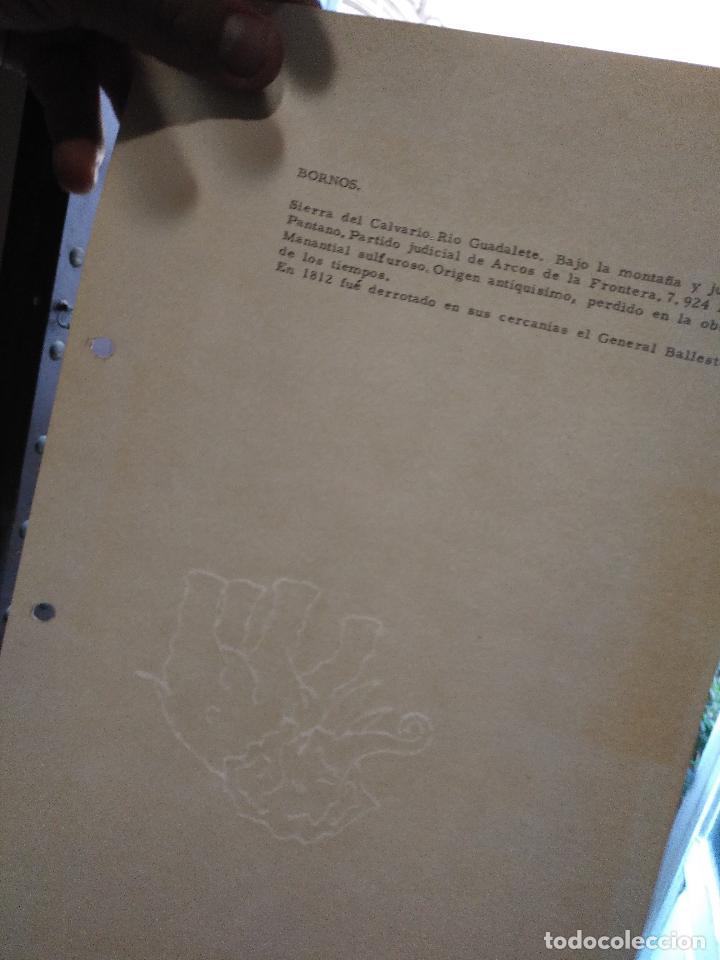 Documentos antiguos: COLECCION DOCUMENTACION PROVINCIA DE CADIZ POR PUEBLOS - bornos - castillo - Foto 3 - 128369123