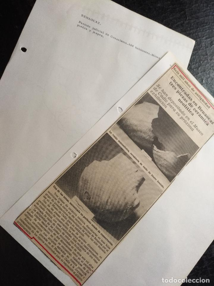 COLECCION DOCUMENTACION PROVINCIA DE CADIZ POR PUEBLOS - BENAOCAZ (Coleccionismo - Documentos - Otros documentos)
