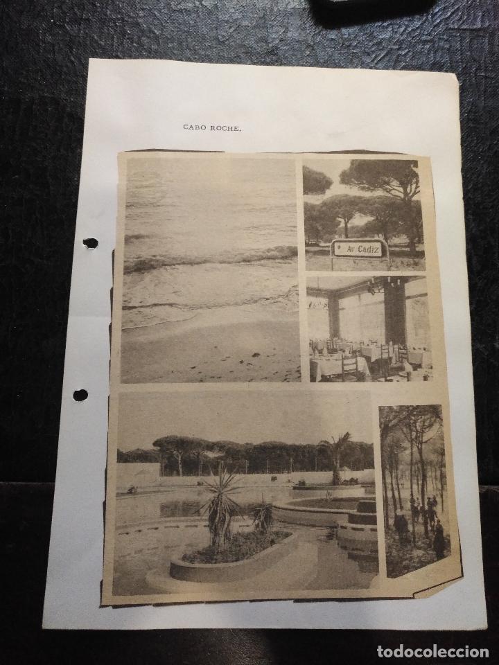 COLECCION DOCUMENTACION PROVINCIA DE CADIZ POR PUEBLOS - CABO ROCHE (Coleccionismo - Documentos - Otros documentos)