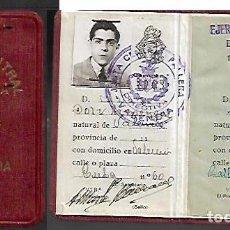 Documentos antiguos: CARNET * JUNTA CENTRAL FALLERA - VALENCIA 1947. Lote 128401067