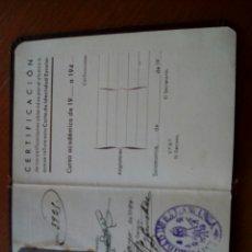 Documentos antiguos: UNIVERSIDAD DE SALAMANCA CARTA DE IDENTIDAD ESCOLAR 1940 MINISTERIO DE EDUCACIÓN NACIONAL. Lote 128550031