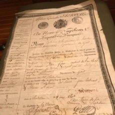 Documentos antiguos: AU NOM DE NAPOLEÓN 1807. Lote 128674843