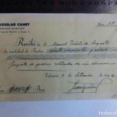 Documentos antiguos: RECIBO DE PAGO 1932 - VALENCIA - SAGUNTO - ABONOS QUIMICOS . Lote 128801471