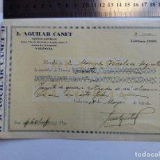 Documentos antiguos: RECIBO DE PAGO 18.05.1932 - VALENCIA - SAGUNTO - ABONOS QUIMICOS - GUANOS MARCA EL COMETA. Lote 128802147