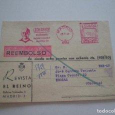 Documentos antigos: REVISTA EL REINO PADRE LEON DEHON // TARJETA POSTAL REEMBOLSO SUSCRIPCION 1969. Lote 128820479
