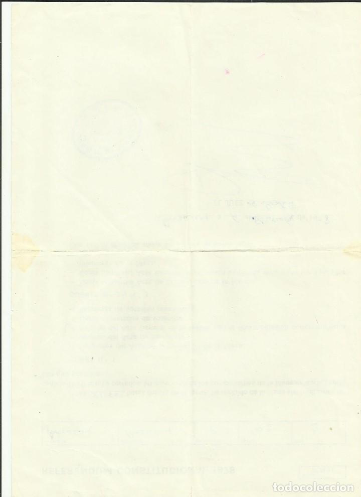 Documentos antiguos: Referendum constitucional 1978 ratificacion constitucion Recepcion del Juez mesa electoral Barcelona - Foto 2 - 128847135