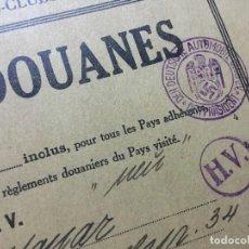 Documentos antiguos: CARNET DE PASO POR ADUANAS 1946 DDAC - DEL CONSUL ÁLVARO MARQUÉS DEL CASTAÑAR (MUNICH) - ORIGINAL. Lote 128980291