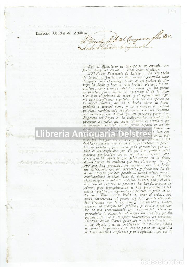 FERNANDO VII. [GUERRA DE LA INDEPENDENCIA. GOBIERNO INTRUSO. 1812] (Coleccionismo - Documentos - Otros documentos)