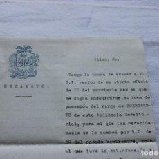 Documentos antiguos: COLEGIO ABOGADOS VALENCIA, DECANATO, 1925 CON SELLOS Y FIRMA DEL DECANO. Lote 129100467