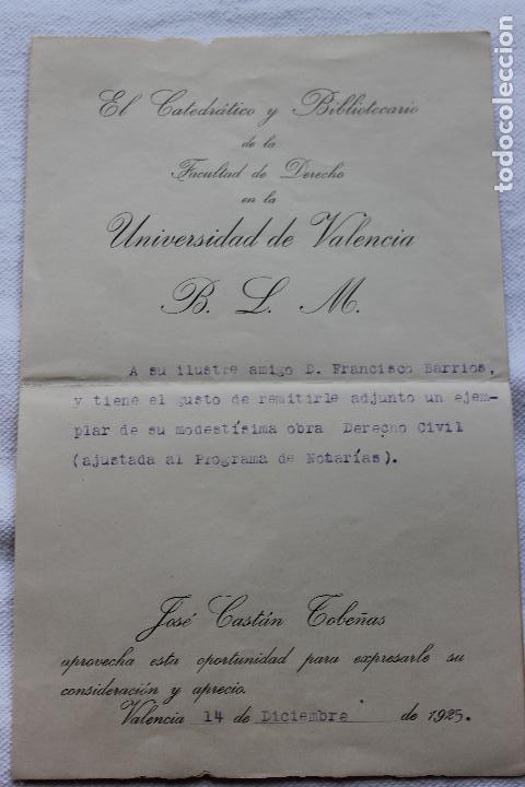 UNIVERSIDAD DE VALENCIA, FACULTAD DE DERECHO. 1925 (Coleccionismo - Documentos - Otros documentos)