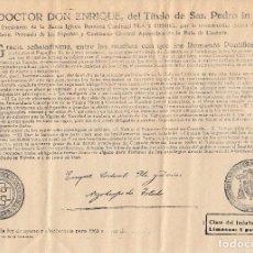 Documentos antiguos: 1965 BULA. INDULTO AYUNO Y ABSTINENCIA CLASE 5ª 5 PTAS. ARZOBISPO DE TOLEDO PLA Y DANIEL. Lote 129106175