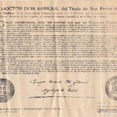 Documentos antiguos: 1965 BULA. INDULTO AYUNO Y ABSTINENCIA CLASE 6ª 1 PTAS. ARZOBISPO DE TOLEDO PLA Y DANIEL. Lote 129106267