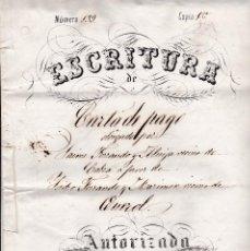 Documentos antiguos: ESCRITURA QUEROL TARRAGONA 1872. Lote 129314779