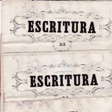 Documentos antiguos: 3 ESCRITURAS 1855 Y 1873 VALLS TARRAGONA . Lote 129372219