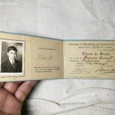 Documentos antiguos: CARNET ASOCIACION DE DEPENDIENTES DEL COMERCIO DE LA HABANA-CUBA--EMIGRANTE ESPAÑOL 1917. Lote 129575507