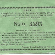 Documentos antiguos: REUS-TARRAGONA. Lote 130144255