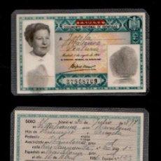 Documentos antiguos: C10-2 Nº 37.968.709 ANONIMO TIPO GRAVADO VERDE EXPEDIDO EN BARCELONA EL 16 DE ABRIL DE 1956 - PERTEN. Lote 130253882